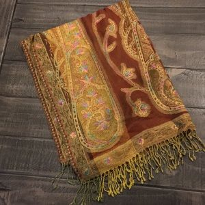 Beautiful Brown colorful scarf/wrap